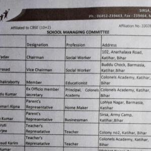 School Managing  Committee